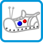 Walk around making robot sounds with this fun Robot Shoes app by Pouncy Cat Productions